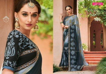 MINTORSI SUVARNA CATALOGUE DESIGNER & PARTY WEAR SAREES COLLECTION WHOLESALE DEALER BEST RATE BY GOSIYA EXPOTS SURAT (5)