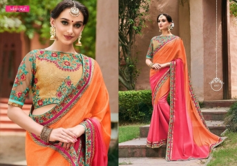 MINTORSI SUVARNA CATALOGUE DESIGNER & PARTY WEAR SAREES COLLECTION WHOLESALE DEALER BEST RATE BY GOSIYA EXPOTS SURAT (7)