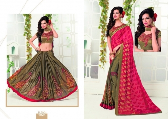 MISHREE COLLECTION ARIANA CATALOG GEORGETTE BRASSO EMBROIDERED SAREES COLLECTION (1)