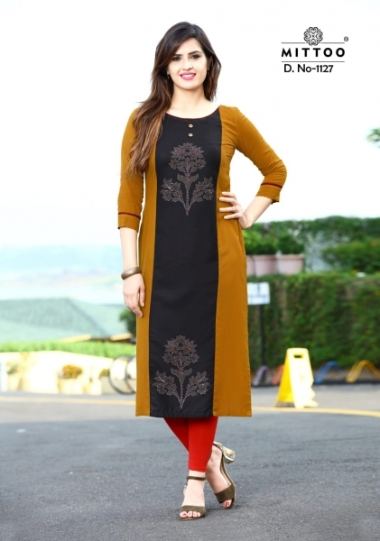 MITTOO PALAK VOL 13 RAYON FABRIC FULL STITCHED DESIGNER KURTIS WHOLESALE DEALER BEST RATE BY GOSIYA EXPPORTS SURAT (8)