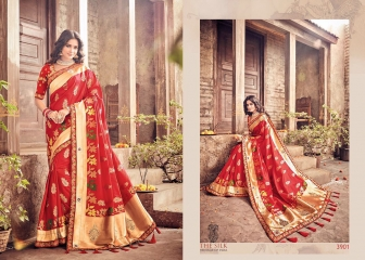 MN SILK HERITAGE SERIES 3901 TO 3915 DESIGNER SAREES CATALOG WHOLESALE BEST ARTE BY GOSIYA EXPORST (38)