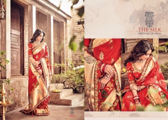 MN SILK HERITAGE SERIES 3901 TO 3915 DESIGNER SAREES CATALOG WHOLESALE BEST ARTE BY GOSIYA EXPORST (39)
