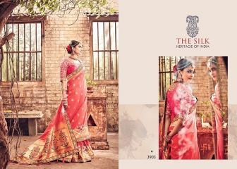MN SILK HERITAGE SERIES 3901 TO 3915 DESIGNER SAREES CATALOG WHOLESALE BEST ARTE BY GOSIYA EXPORST (41)