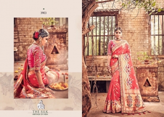 MN SILK HERITAGE SERIES 3901 TO 3915 DESIGNER SAREES CATALOG WHOLESALE BEST ARTE BY GOSIYA EXPORST (43)
