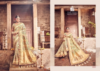 MN SILK HERITAGE SERIES 3901 TO 3915 DESIGNER SAREES CATALOG WHOLESALE BEST ARTE BY GOSIYA EXPORST (45)