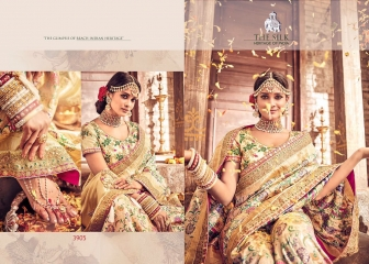 MN SILK HERITAGE SERIES 3901 TO 3915 DESIGNER SAREES CATALOG WHOLESALE BEST ARTE BY GOSIYA EXPORST (46)