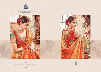 MN SILK HERITAGE SERIES 3901 TO 3915 DESIGNER SAREES CATALOG WHOLESALE BEST ARTE BY GOSIYA EXPORST (50)