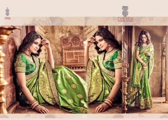 MN SILK HERITAGE SERIES 3901 TO 3915 DESIGNER SAREES CATALOG WHOLESALE BEST ARTE BY GOSIYA EXPORST (51)