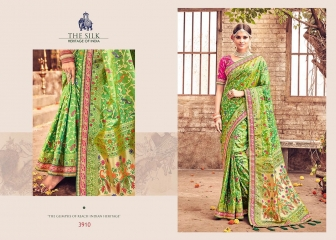 MN SILK HERITAGE SERIES 3901 TO 3915 DESIGNER SAREES CATALOG WHOLESALE BEST ARTE BY GOSIYA EXPORST (55)