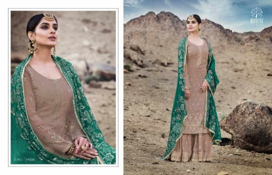 MOHINI FASHION GLAMOUR VOL 74 HEAVY DESIGNER SHARARA STYLE INDIAN PARTYWEAR DRESSES WHOLESALE DEALER BEST RATE BY GOSIY
