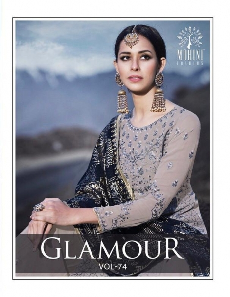 MOHINI FASHION GLAMOUR VOL 74 HEAVY DESIGNER SHARARA STYLE INDIAN PARTYWEAR DRESSES WHOLESALE DEALER BEST RATE BY GOSIYA E (1)