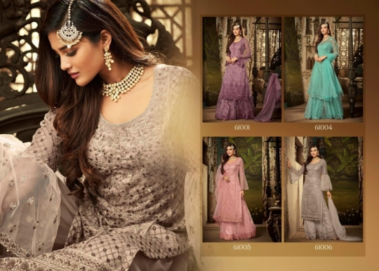 MOHINI GLAMOUR VOL 61 NX FANCY FABRIC HEAVY WORK SHARARA STYLE SALWAR SUIT WHOLESALE DEALER BEST RATE BY GOSIYA EXPORTS SURAT (5)