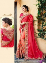 MONALISA SAREES 701-712 SERIES CATALOGUE DESIGNER PARTY WEAR COLLECTION WHOLESALE DEALER BEST RATE BY GOSIYA EXPORTS SURAT