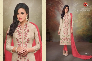 MOOF FASHION SHAISTA VOL 2 CHANDERI EMBROIDERED SUITS WHOLESALER BEST RATE BY GOSIYA EXPORTS SURAT (2)