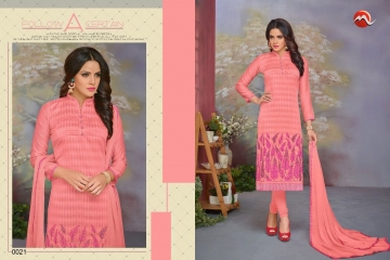 MOOF FASHION SHAISTA VOL 2 CHANDERI EMBROIDERED SUITS WHOLESALER BEST RATE BY GOSIYA EXPORTS SURAT (4)