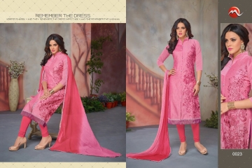 MOOF FASHION SHAISTA VOL 2 CHANDERI EMBROIDERED SUITS WHOLESALER BEST RATE BY GOSIYA EXPORTS SURAT (6)