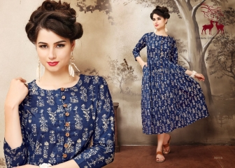 MRIGYA AARAMBH COTTON KURTI WHOLESALE EXPORTER BEST RATE BY GOSIYA EXPORTS SURAT (2)