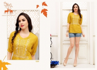 MRIGYA FIONA 2 HEAVY RAYON PARTY WEAR KURTIES COLLECTION WHOLESALE BEST SELLER DEALER RATE BY GOSIYA EXPORTS SURAT (2)