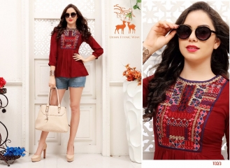 MRIGYA FIONA 2 HEAVY RAYON PARTY WEAR KURTIES COLLECTION WHOLESALE BEST SELLER DEALER RATE BY GOSIYA EXPORTS SURAT (6)