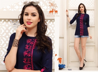 MRIGYA FIONA 2 HEAVY RAYON PARTY WEAR KURTIES COLLECTION WHOLESALE BEST SELLER DEALER RATE BY GOSIYA EXPORTS SURAT (8)