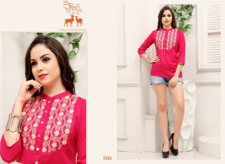 MRIGYA FIONA 2 HEAVY RAYON PARTY WEAR KURTIES COLLECTION WHOLESALE BEST SELLER DEALER RATE BY GOSIYA EXPORTS SURAT (9)