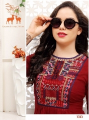 MRIGYA FIONA 2 HEAVY RAYON PARTY WEAR KURTIES COLLECTION WHOLESALE BEST SELLER DEALER RATE BY GOSIYA EXPORTS SURAT