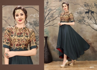 MRIGYA KALAMKARI CATALOG HANDLOOM FABRICS KURTIS WHOLESALE SUPPLIER BEST RATE BY GOSIYA EXPORTS SURAT (2)