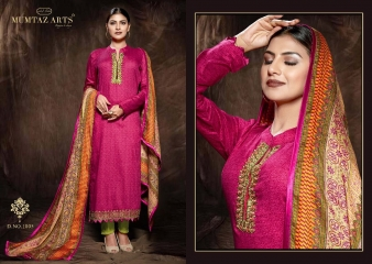 MUMTAAZ ARTS KAPAS JAM SATIN EMBROIDERED SUITS WHOLESALE DEALER BEST RATE BY GOSIYA EXPORTS SURAT (10)