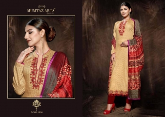 MUMTAAZ ARTS KAPAS JAM SATIN EMBROIDERED SUITS WHOLESALE DEALER BEST RATE BY GOSIYA EXPORTS SURAT (12)