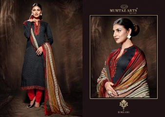 MUMTAAZ ARTS KAPAS JAM SATIN EMBROIDERED SUITS WHOLESALE DEALER BEST RATE BY GOSIYA EXPORTS SURAT (2)
