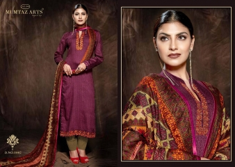 MUMTAAZ ARTS KAPAS JAM SATIN EMBROIDERED SUITS WHOLESALE DEALER BEST RATE BY GOSIYA EXPORTS SURAT (4)