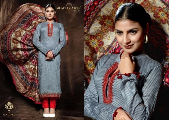 MUMTAAZ ARTS KAPAS JAM SATIN EMBROIDERED SUITS WHOLESALE DEALER BEST RATE BY GOSIYA EXPORTS SURAT (6)