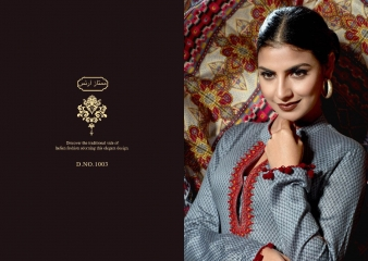 MUMTAAZ ARTS KAPAS JAM SATIN EMBROIDERED SUITS WHOLESALE DEALER BEST RATE BY GOSIYA EXPORTS SURAT (7)