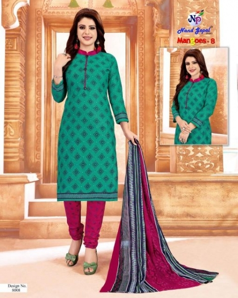 NANDGOPAL PRESENTS MANGOES VOL 8 COTTON DRESS MATERILAS WHOLESALE DEALER BEST RATE BY GOSIYA EXPORTS SURAT (10)