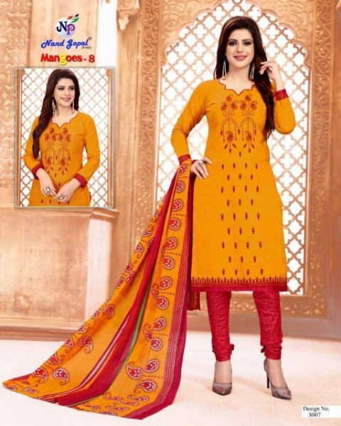 NANDGOPAL PRESENTS MANGOES VOL 8 COTTON DRESS MATERILAS WHOLESALE DEALER BEST RATE BY GOSIYA EXPORTS SURAT (11)