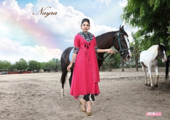 NAYRA BY CULTURE CATALOG COTTON SLUB KURTIS WITH STOLES COLLECTION U (6)