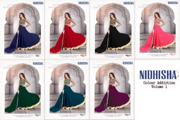 NIDHISHA COLOUR ADDICTION VOL 1 PARTY WEAR SALWAR SUIT CATALOG AT BEST RATE BY GOSIYA EXPORTS SURAT (30)