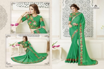 NIRAVANA FASHION NEW CATALOG OF EXCLUSIVE DESIGNER SAREE CATALOG WHOLESALE BEST RATE BY GOSIYA EXPORTS SURAT (10)