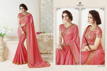 NIRAVANA FASHION NEW CATALOG OF EXCLUSIVE DESIGNER SAREE CATALOG WHOLESALE BEST RATE BY GOSIYA EXPORTS SURAT (11)