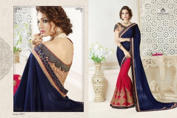 NIRAVANA FASHION NEW CATALOG OF EXCLUSIVE DESIGNER SAREE CATALOG WHOLESALE BEST RATE BY GOSIYA EXPORTS SURAT (12)