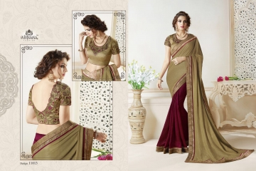 NIRAVANA FASHION NEW CATALOG OF EXCLUSIVE DESIGNER SAREE CATALOG WHOLESALE BEST RATE BY GOSIYA EXPORTS SURAT (14)