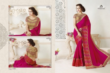 NIRAVANA FASHION NEW CATALOG OF EXCLUSIVE DESIGNER SAREE CATALOG WHOLESALE BEST RATE BY GOSIYA EXPORTS SURAT (2)