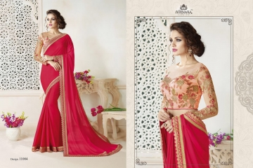 NIRAVANA FASHION NEW CATALOG OF EXCLUSIVE DESIGNER SAREE CATALOG WHOLESALE BEST RATE BY GOSIYA EXPORTS SURAT (4)