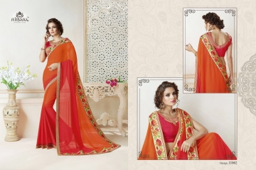 NIRAVANA FASHION NEW CATALOG OF EXCLUSIVE DESIGNER SAREE CATALOG WHOLESALE BEST RATE BY GOSIYA EXPORTS SURAT (5)