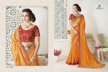 NIRAVANA FASHION NEW CATALOG OF EXCLUSIVE DESIGNER SAREE CATALOG WHOLESALE BEST RATE BY GOSIYA EXPORTS SURAT (6)