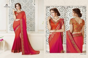 NIRAVANA FASHION NEW CATALOG OF EXCLUSIVE DESIGNER SAREE CATALOG WHOLESALE BEST RATE BY GOSIYA EXPORTS SURAT (9)