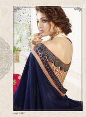 NIRAVANA FASHION NEW CATALOG OF EXCLUSIVE DESIGNER SAREE CATALOG WHOLESALE BEST RATE BY GOSIYA EXPORTS SURAT