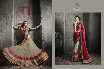 NIRVANA ALL HITS FANCY DESIGNER SAREE COLLECTION WHOLESALE BY GOSIYA EXPORTS SURAT (10)