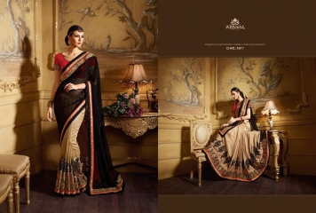 NIRVANA ALL HITS FANCY DESIGNER SAREE COLLECTION WHOLESALE BY GOSIYA EXPORTS SURAT (15)