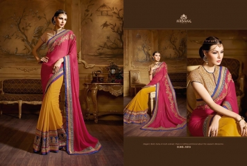 NIRVANA ALL HITS FANCY DESIGNER SAREE COLLECTION WHOLESALE BY GOSIYA EXPORTS SURAT (16)